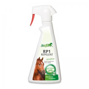 Stiefel, RP1 Repelent Sensitive pre kone a jazdcov, repelent pre kone, repelent pre jazdcov, repelent, repelent na ovady, repelent na komáre, repelent na kliešte, repelent s dlhým účinkom, letná vyrážka, alergia na hmyz, jemný repelent, letná vyrážka u koní, letní vyrážka u koní, alergia na hmyz u koní, alergie na hmyz u koní, muchár, muchař, svrbenie u koní, svědení u koní