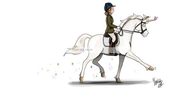 pohľadnica, pohľadnica so vzorom koňa, pohľadnica so vzorom koní, pohľadnica s motívom koňa, pohľadnica s motívom koní, pohľadnica s ilustárciou koňa, pohľadnica s ilustráciou koní, emily cole, pohľadnica Unicorn