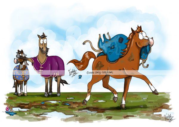 pohľadnica, pohľadnica so vzorom koňa, pohľadnica so vzorom koní, pohľadnica s motívom koňa, pohľadnica s motívom koní, pohľadnica s ilustárciou koňa, pohľadnica s ilustráciou koní, emily cole, pohľadnica The exhibitionist