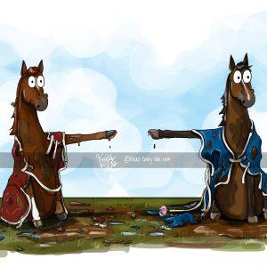 pohľadnica, pohľadnica so vzorom koňa, pohľadnica so vzorom koní, pohľadnica s motívom koňa, pohľadnica s motívom koní, pohľadnica s ilustárciou koňa, pohľadnica s ilustráciou koní, emily cole, pohľadnica He started it