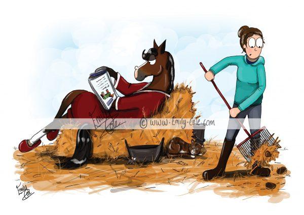 pohľadnica, pohľadnica so vzorom koňa, pohľadnica so vzorom koní, pohľadnica s motívom koňa, pohľadnica s motívom koní, pohľadnica s ilustárciou koňa, pohľadnica s ilustráciou koní, emily cole, pohľadnica The house maid