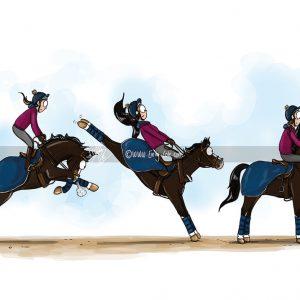 pohľadnica, pohľadnica so vzorom koňa, pohľadnica so vzorom koní, pohľadnica s motívom koňa, pohľadnica s motívom koní, pohľadnica s ilustárciou koňa, pohľadnica s ilustráciou koní, emily cole, pohľadnica Feeling fresh