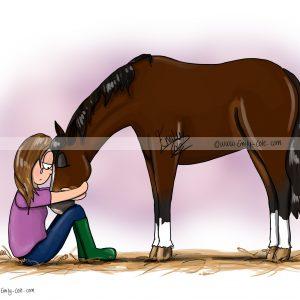 pohľadnica, pohľadnica so vzorom koňa, pohľadnica so vzorom koní, pohľadnica s motívom koňa, pohľadnica s motívom koní, pohľadnica s ilustárciou koňa, pohľadnica s ilustráciou koní, emily cole, pohľadnica I'm here
