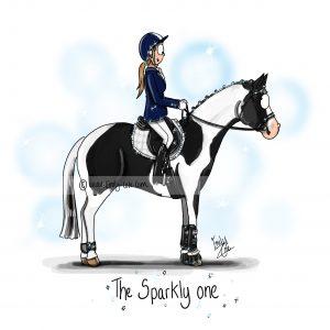pohľadnica, pohľadnica so vzorom koňa, pohľadnica so vzorom koní, pohľadnica s motívom koňa, pohľadnica s motívom koní, pohľadnica s ilustárciou koňa, pohľadnica s ilustráciou koní, emily cole, pohľadnica The sparkly one