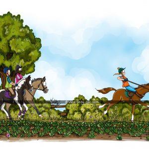 pohľadnica, pohľadnica so vzorom koňa, pohľadnica so vzorom koní, pohľadnica s motívom koňa, pohľadnica s motívom koní, pohľadnica s ilustárciou koňa, pohľadnica s ilustráciou koní, emily cole, pohľadnica Take off