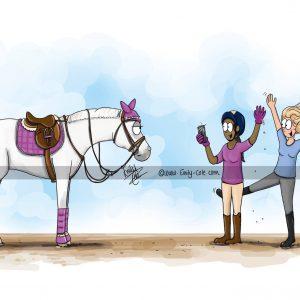 pohľadnica, pohľadnica so vzorom koňa, pohľadnica so vzorom koní, pohľadnica s motívom koňa, pohľadnica s motívom koní, pohľadnica s ilustárciou koňa, pohľadnica s ilustráciou koní, emily cole, pohľadnica Photo shoot