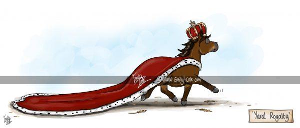 pohľadnica, pohľadnica so vzorom koňa, pohľadnica so vzorom koní, pohľadnica s motívom koňa, pohľadnica s motívom koní, pohľadnica s ilustárciou koňa, pohľadnica s ilustráciou koní, emily cole, pohľadnica Yard Royalty