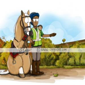 pohľadnica, pohľadnica so vzorom koňa, pohľadnica so vzorom koní, pohľadnica s motívom koňa, pohľadnica s motívom koní, pohľadnica s ilustárciou koňa, pohľadnica s ilustráciou koní, emily cole, pohľadnica It definitely moved