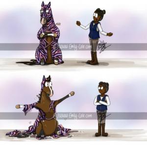 pohľadnica, pohľadnica so vzorom koňa, pohľadnica so vzorom koní, pohľadnica s motívom koňa, pohľadnica s motívom koní, pohľadnica s ilustárciou koňa, pohľadnica s ilustráciou koní, emily cole, pohľadnica You look great!
