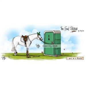 pohľadnica, pohľadnica so vzorom koňa, pohľadnica so vzorom koní, pohľadnica s motívom koňa, pohľadnica s motívom koní, pohľadnica s ilustárciou koňa, pohľadnica s ilustráciou koní, emily cole, pohľadnica I won't be a minute!