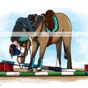 pohľadnica, pohľadnica so vzorom koňa, pohľadnica so vzorom koní, pohľadnica s motívom koňa, pohľadnica s motívom koní, pohľadnica s ilustárciou koňa, pohľadnica s ilustráciou koní, emily cole, pohľadnica Seeing eye to eye