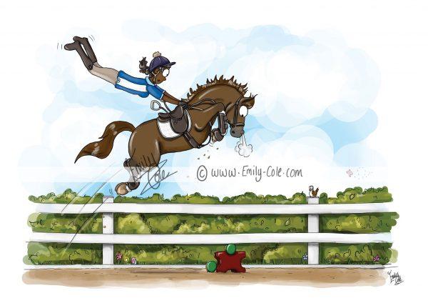 pohľadnica, pohľadnica so vzorom koňa, pohľadnica so vzorom koní, pohľadnica s motívom koňa, pohľadnica s motívom koní, pohľadnica s ilustárciou koňa, pohľadnica s ilustráciou koní, emily cole, pohľadnica Giving it some room