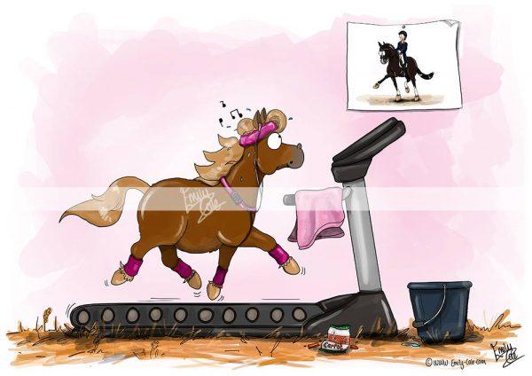 pohľadnica, pohľadnica so vzorom koňa, pohľadnica so vzorom koní, pohľadnica s motívom koňa, pohľadnica s motívom koní, pohľadnica s ilustárciou koňa, pohľadnica s ilustráciou koní, emily cole, pohľadnica Little legs, big dreams