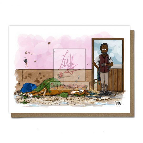 pohľadnica, pohľadnica so vzorom koňa, pohľadnica so vzorom koní, pohľadnica s motívom koňa, pohľadnica s motívom koní, pohľadnica s ilustárciou koňa, pohľadnica s ilustráciou koní, emily cole, pohľadnica Post party nap