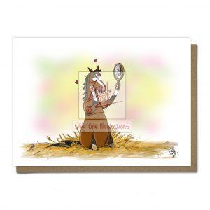 pohľadnica, pohľadnica so vzorom koňa, pohľadnica so vzorom koní, pohľadnica s motívom koňa, pohľadnica s motívom koní, pohľadnica s ilustárciou koňa, pohľadnica s ilustráciou koní, emily cole, pohľadnica Hello handsome
