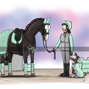 pohľadnica, pohľadnica so vzorom koňa, pohľadnica so vzorom koní, pohľadnica s motívom koňa, pohľadnica s motívom koní, pohľadnica s ilustárciou koňa, pohľadnica s ilustráciou koní, emily cole, pohľadnica Matchy matchy