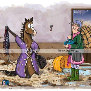 pohľadnica, pohľadnica so vzorom koňa, pohľadnica so vzorom koní, pohľadnica s motívom koňa, pohľadnica s motívom koní, pohľadnica s ilustárciou koňa, pohľadnica s ilustráciou koní, emily cole, pohľadnica You are late
