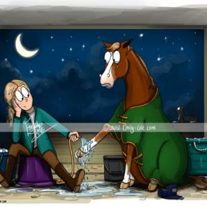 pohľadnica, pohľadnica so vzorom koňa, pohľadnica so vzorom koní, pohľadnica s motívom koňa, pohľadnica s motívom koní, pohľadnica s ilustárciou koňa, pohľadnica s ilustráciou koní, emily cole, pohľadnica Nowhere I'd rather be...
