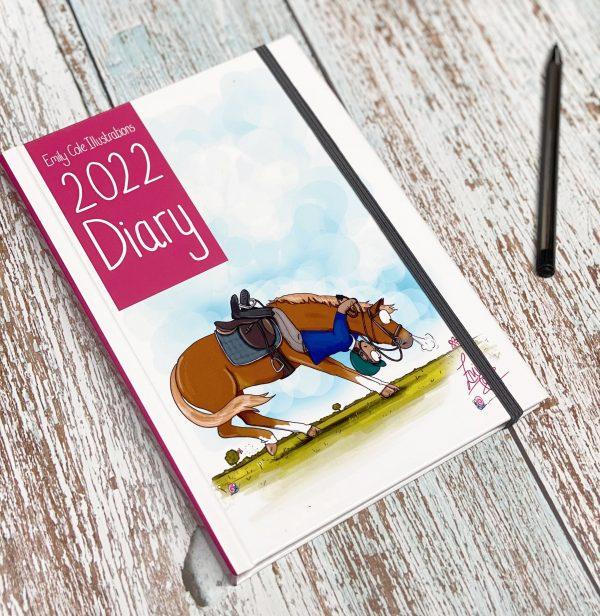 diár, kone, kôň, diár s konským vzorom, diár s konským motívom, diár s ilustráciami koní, diár s vtipnými ilustráciami koní, diár od emily cole, emily cole