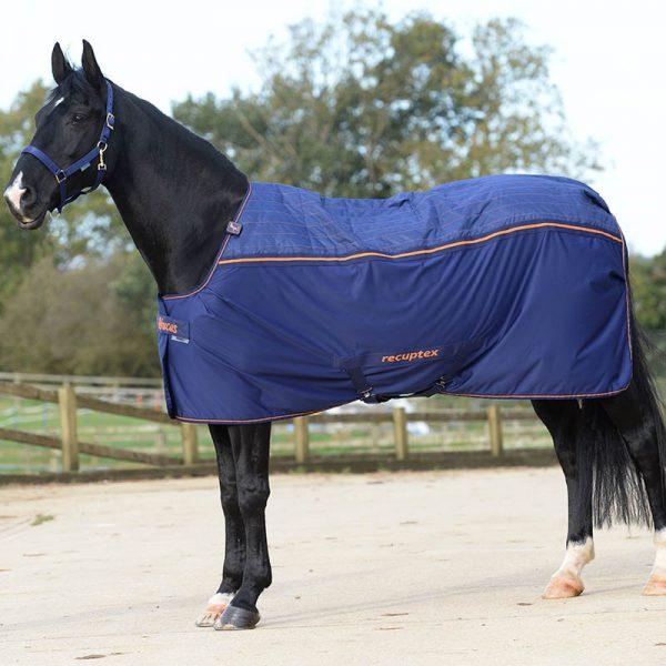 Terapeutická deka Recupex Therapy pre pony, bucas, terapeutická deka pre kone, priedušná terapeutická deka pre kone, terapeutická deka pre kone s hodvábnou podšívkou, stay-dry rug, magnetic Snap-lock,