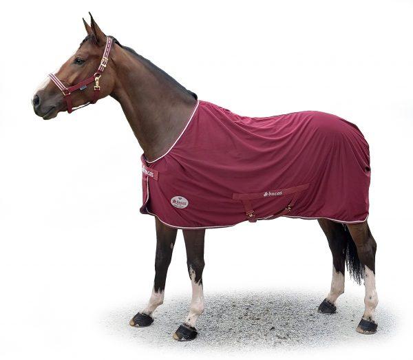 Odpocovacia deka Ruby Jubilee Cooler, bucas, odpocovacia deka pre kone, cestovná deka pre kone, deka s hodvábnou podšívkou pre kone, odpocovacia deka na výstavy, odpocovacia deka na súťaže