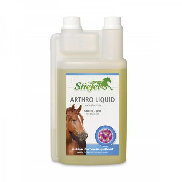 Stiefel, Arthro Liquid s červorým pazúrom a artičokom, kôň, kone, pohybová sústava koní, pohybový aparát koní, kĺby koní, klouby koní, degenerácia kĺbov koní, výživa kĺbov pre kone, výživa kĺbov pro kone, výživové doplnky pre kone, výživový doplnok pre kone, výživový doplněk pro kone, výživový doplnok pre kĺby koní, výživový doplněk pro klouby koní, výživový doplnok pre staré kone, výživový doplněk pro staré kone, diablov pazúr pre kone, čertov pazúr pre kone, čertov dráp pro kone, artičok pre kone