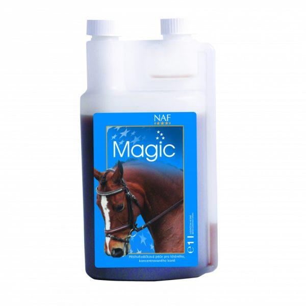 NAF, Upokojujúci Magic liquid, kôň, kone, stres koní, nervová sústava koní, upokojenie koní, stres koňa, upokojenie koňa, rýchle upokojenie koňa, výživové doplnky pre kone, výživový doplnok pre kone, výživový doplněk pro kone