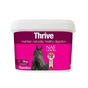 NAF, Thrive proti hnačke a riedkej stolici, kôň, kone, trávenie koní, metabolizmus koní, hnačka u koní, črevné problémy u koní, prujem u koní, výživové doplnky pre kone, výživový doplnok pre kone, výživový doplněk pro kone
